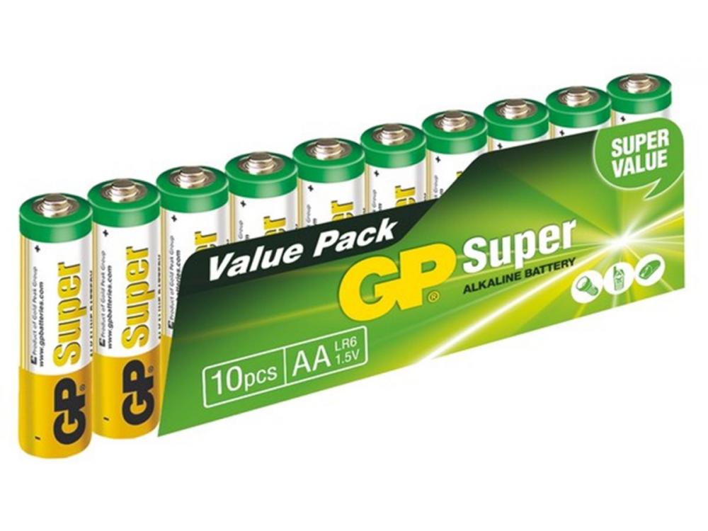 Batéria GP SUPER ALKALINE BATTERY AA (LR6) - 10KS - NEW