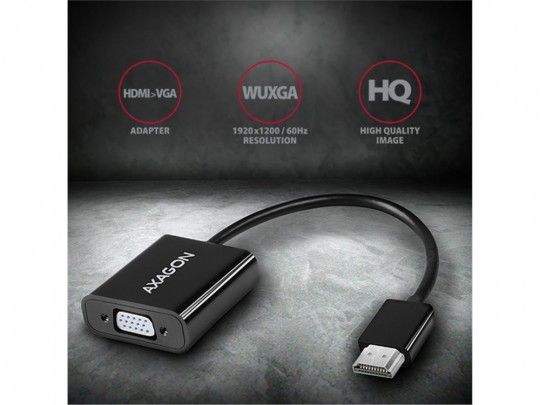AXAGON RVH-VGAN, HDMI to VGA Adapter, audio out, microUSB in, Cable HDMI - 1070015 #8