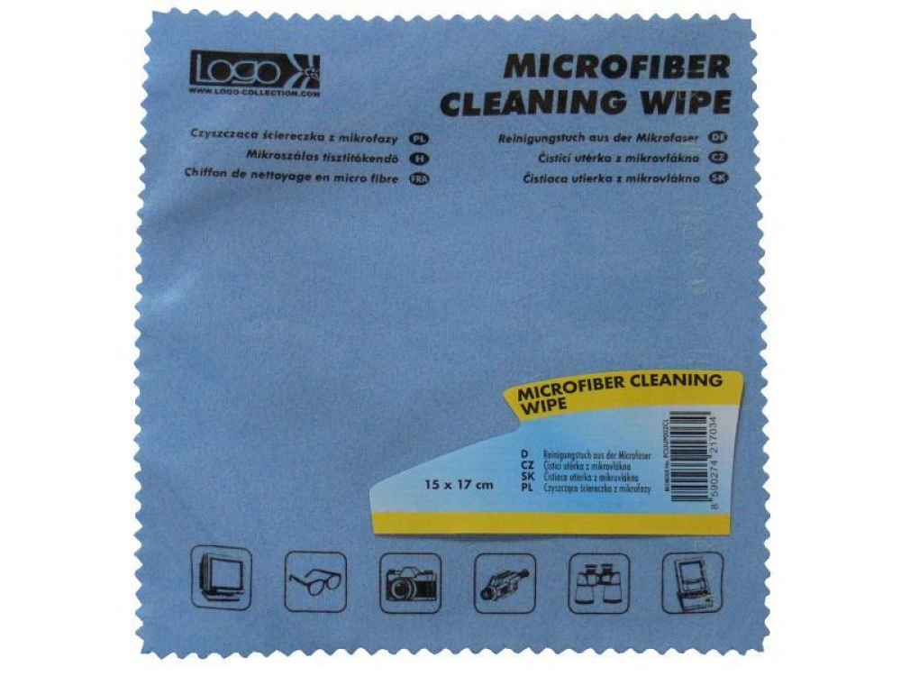 Cleaning PC/NB LOGO Microfiber Cleaning Wipe 15x17cm -