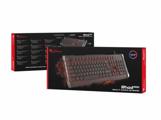 Genesis Rhod 400 Gaming, 3 color, US Klávesnica - 1380029 #1