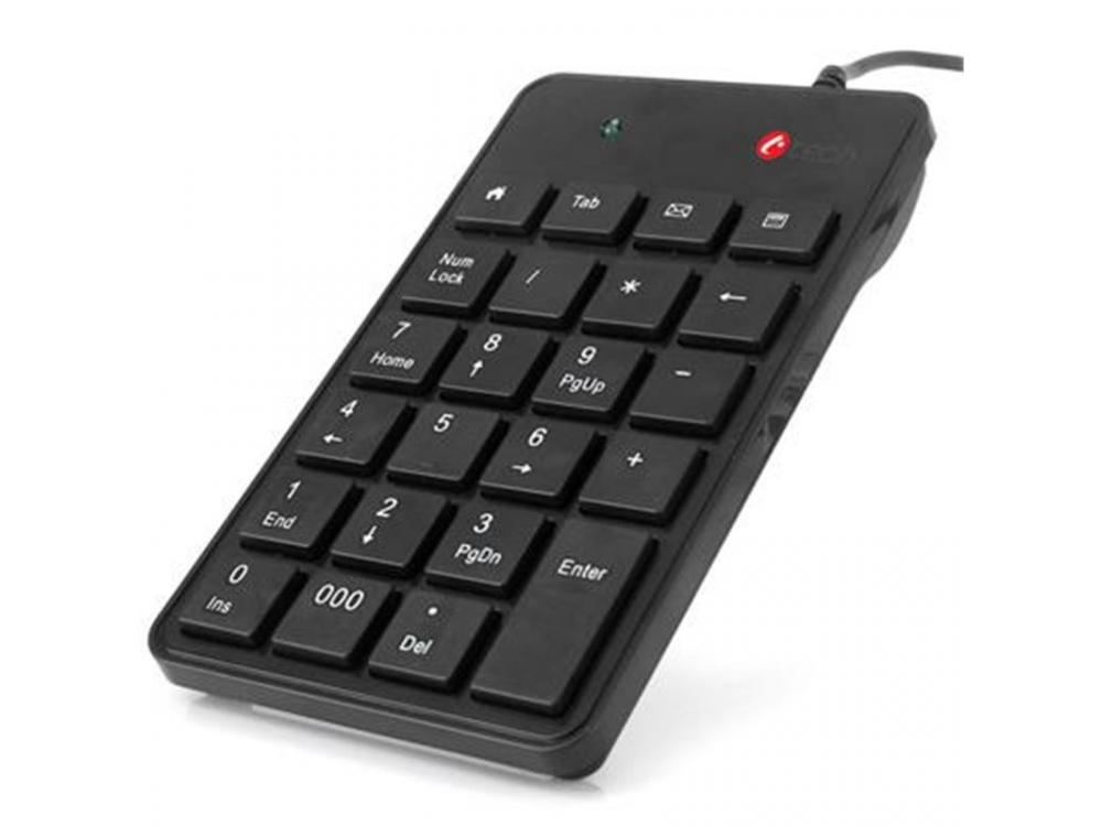 Klávesnica C-Tech KBN-01, Numeric Keypad, 23 Keys, USB Slim Black - NEW