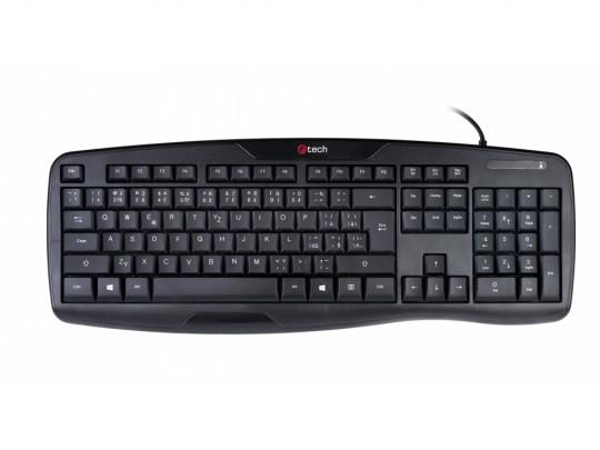 C-Tech KB-107 USB, ERGO, Black, CZ/SK Klávesnica - 1380040 #2