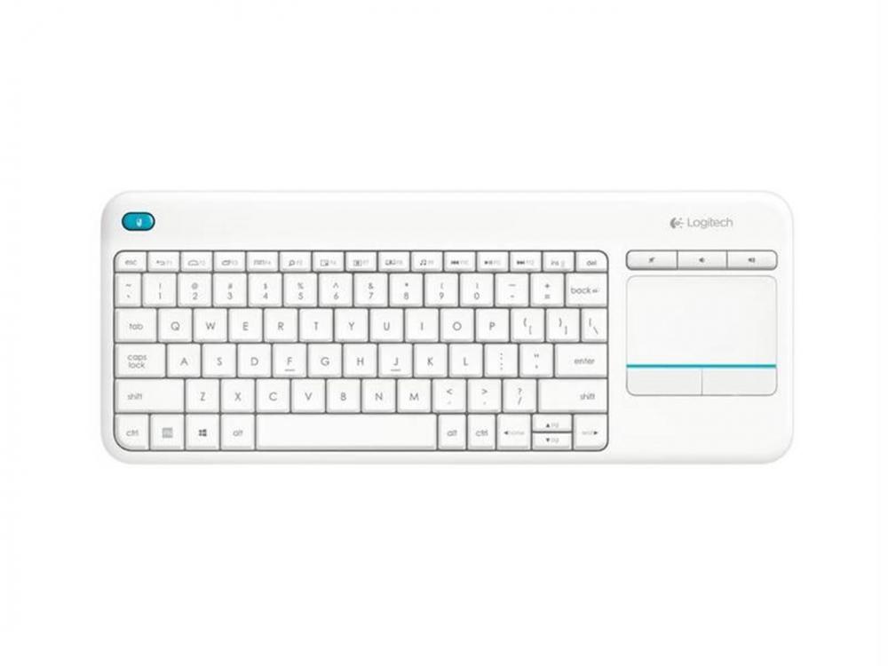 Klávesnica Logitech Wireless Touch Keyboard K400 plus, USB, CZ/SK, White - SK-CZ keyboard | NEW | Wireless