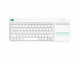 Logitech Wireless Touch Keyboard K400 plus, USB, CZ/SK, White Klávesnica - 1380058
