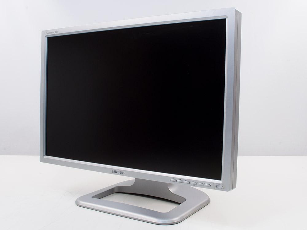 "Samsung SyncMaster 244t - 24"" | 1920 x 1200 | DVI | VGA (d-sub) | USB 2.0 | Silver"