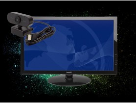 "TERRA 24"" Monitor Terra 2450W + USB 1080P Webcam with mic"