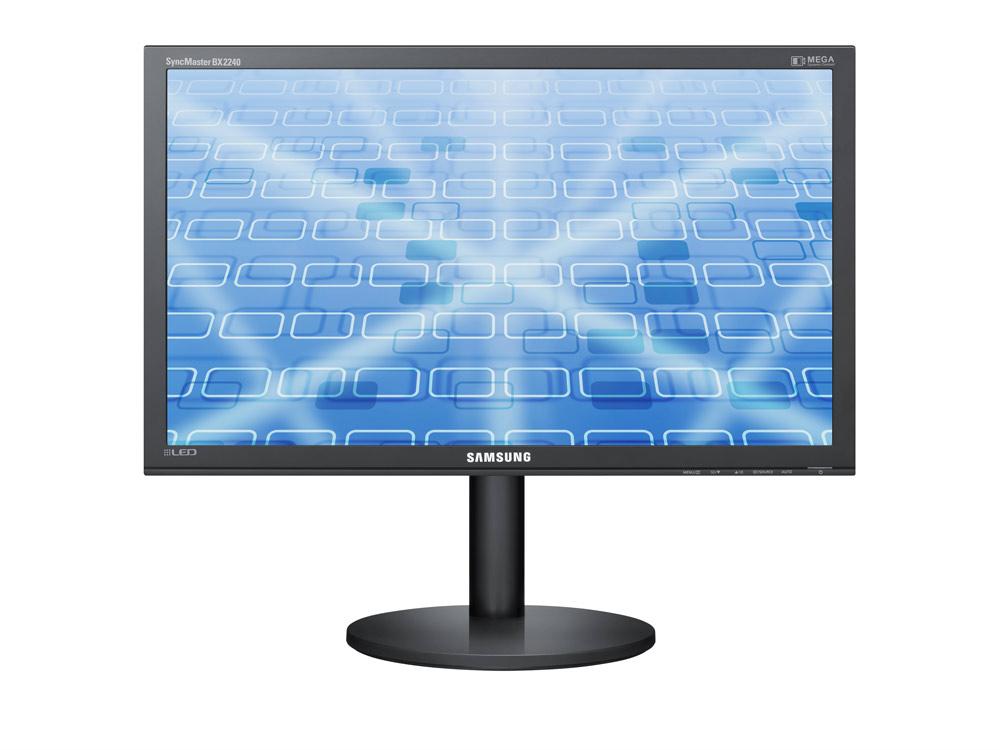 "Samsung SyncMaster BX2240w - 22"" | 1680 x 1050 | W-LED | DVI | VGA (d-sub) | Silver | LED | Black"