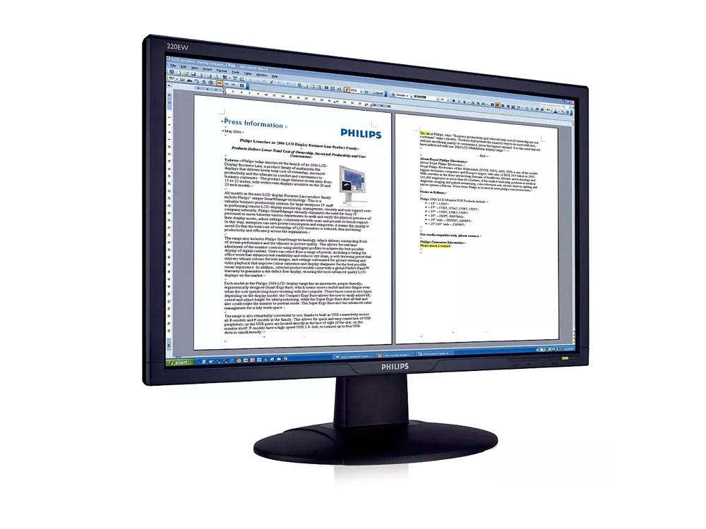 "Philips 220AW8 - 22"" | 1680 x 1050 | DVI | VGA (d-sub) | Speakers | Silver"