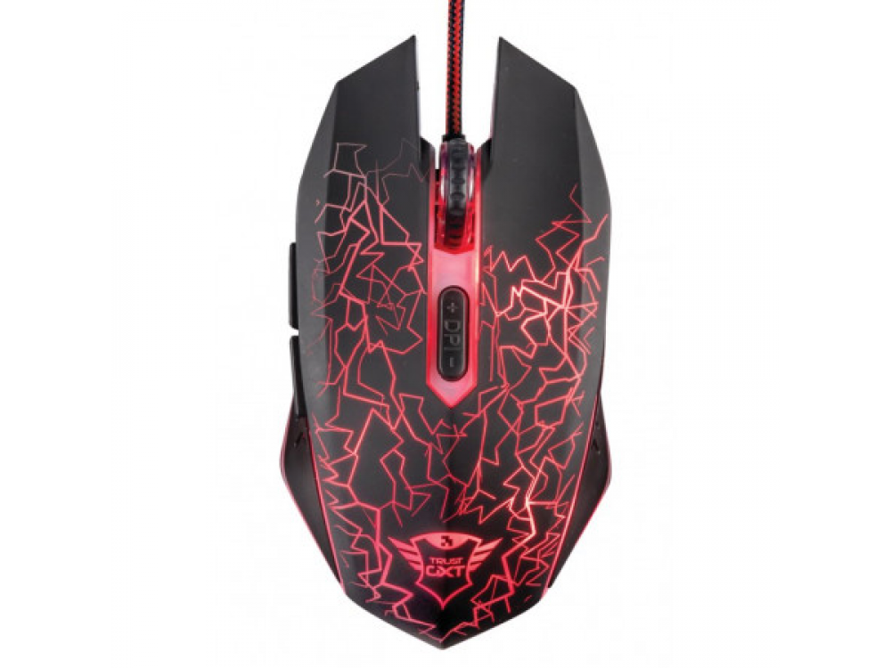 Myš Trust GXT 105 Izza Illuminated Gaming Mouse - Wired