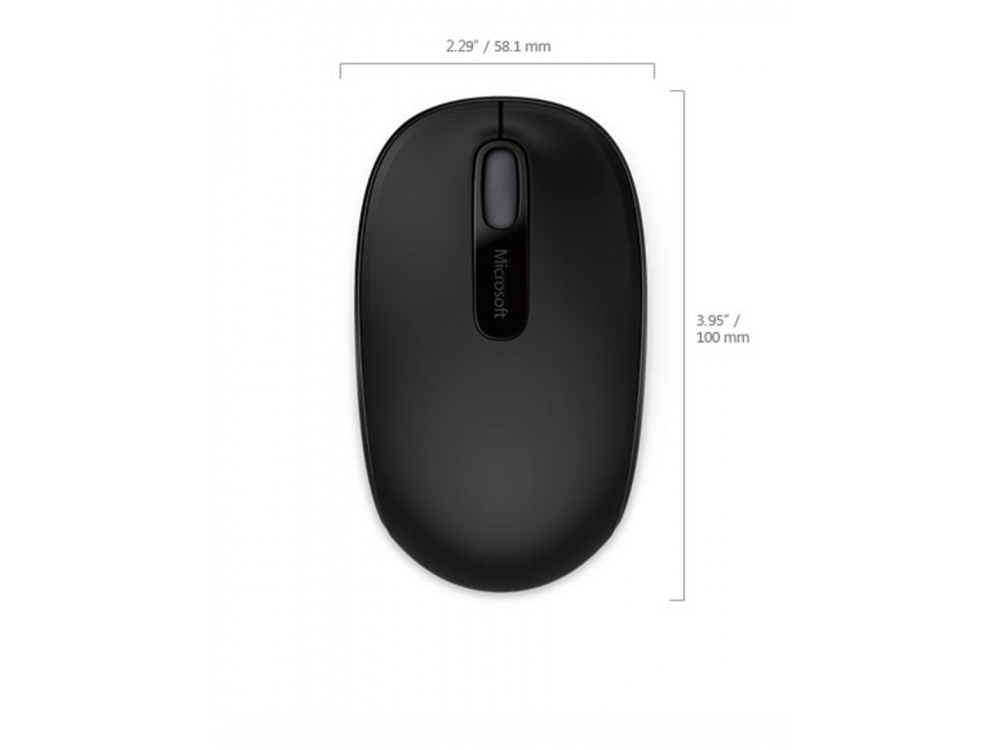 Myš Microsoft Wireless Mobile Mouse 1850 Black - NEW | Wireless