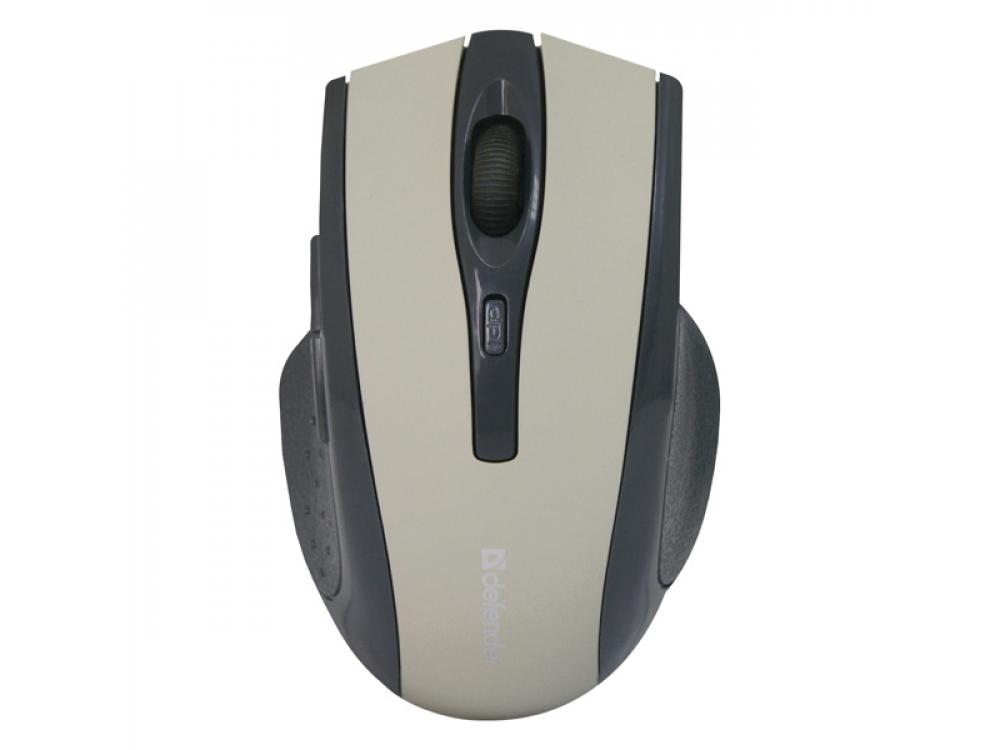 Myš Defender Accura MM-665, 1600DPI, Wireless, Gray - NEW   Wireless