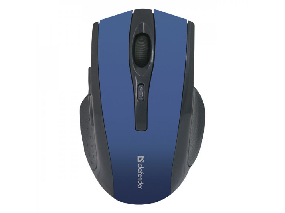 Myš Defender Accura MM-665, 1600DPI, Wireless, Blue - NEW   Wireless