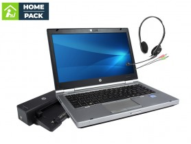 HP EliteBook 8470p + Docking station HP Compaq HSTNN-I11X + Headset