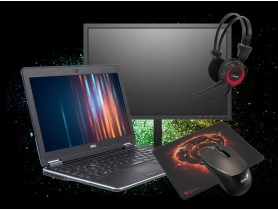 "Dell [Black Friday] Latitude E7240 + 22"" Monitor Lenovo T2254p + Mouse pad Genesis Carbon 500M + Wireless Mouse Genius NX-7015 + Headphones C-Tech Headset MHS-02 repasovaný notebook - 1524946"