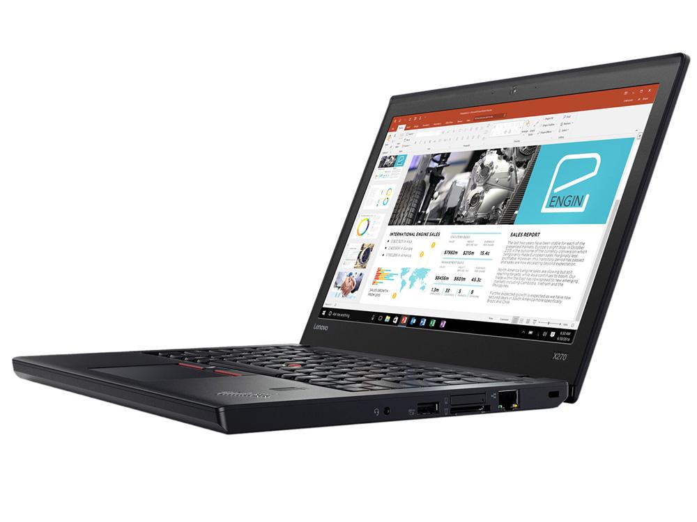 "Lenovo ThinkPad X270 - i7-6600U | 8GB DDR4 | 128GB SSD | NO ODD | 12,5"" | 1366 x 768 | Webcam | HD 520 | Win 10 Home | HDMI | Bronze"