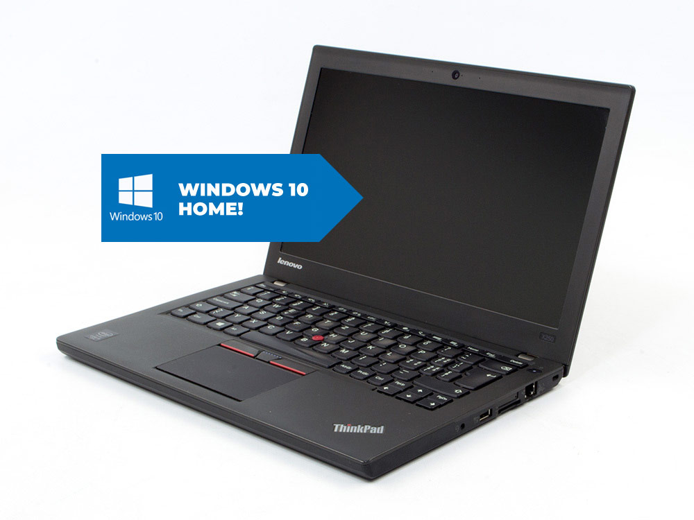Lenovo ThinkPad X250 + MAR Windows 10 HOME - i5-5300U | 8GB DDR3 | 240GB SSD | NO ODD | 12,5"