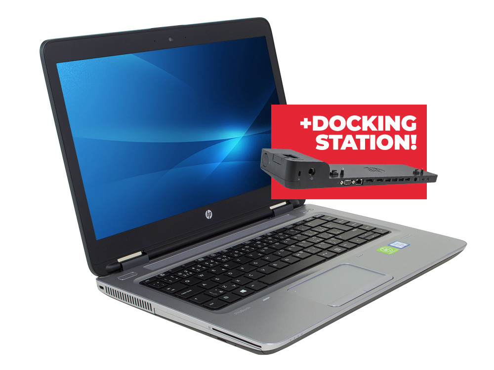 "HP ProBook 640 G2 + Docking station HP 2013 Ultra Slim D9Y32AA - i5-6200U | 8GB DDR4 | 128GB SSD | NO ODD | 14"" | 1920 x 1080 (Full HD) | Webcam | HD 520 | Win 10 Pro | Bronze"