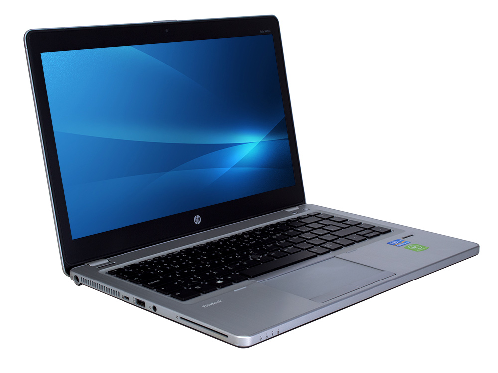 "HP EliteBook Folio 9480m - i5-4310U   8GB DDR3   120GB SSD   NO ODD   14""   1600 x 900   Webcam   HD 4400   Win 10 Pro   Silver"