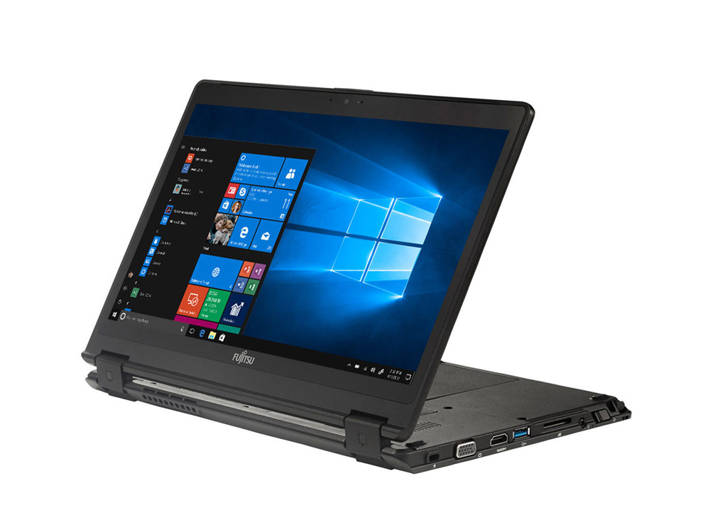 "Fujitsu LifeBook P728 2-in-1 - i7-8650U   8GB DDR4   256GB (M.2) SSD   NO ODD   12,5""   1920 x 1080 (Full HD)   Webcam   UHD 620   Win 10 Pro   HDMI   Silver   Touchscreen   Black"
