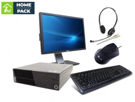 LENOVO ThinkCentre M75e SFF + DELL Professional P2210 + Headset + Keyboard + Mouse