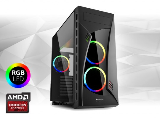 "Furbify PC Tower ""Rainbow"" + Radeon RX470 8GB repasovaný počítač, Intel Core i5-6500, Radeon RX470 8GB, 8GB DDR4 RAM, 250GB SSD - 1604073 #1"