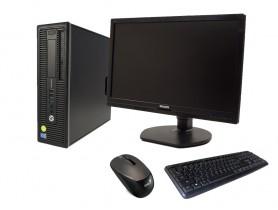 """HP EliteDesk 800 G1 SFF + 21,5"""" Monitor Philips Brilliance 221B6L + Keyboard & Mouse repasovaný počítač - 1604105"""