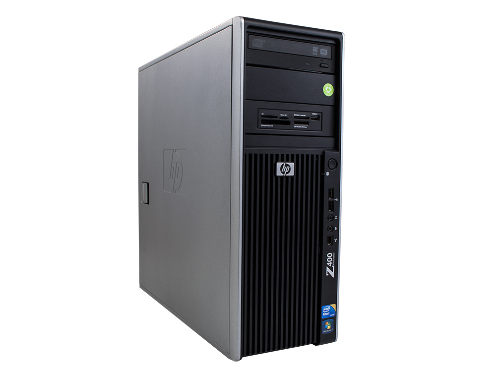 "HP Workstation Z400 - CMT | Xeon W3503 | 8GB DDR3 | 120GB SSD | 500GB HDD 3,5"" | DVD-RW | Quadro FX 1800M 1GB | Win 7 Pro COA | Gold"