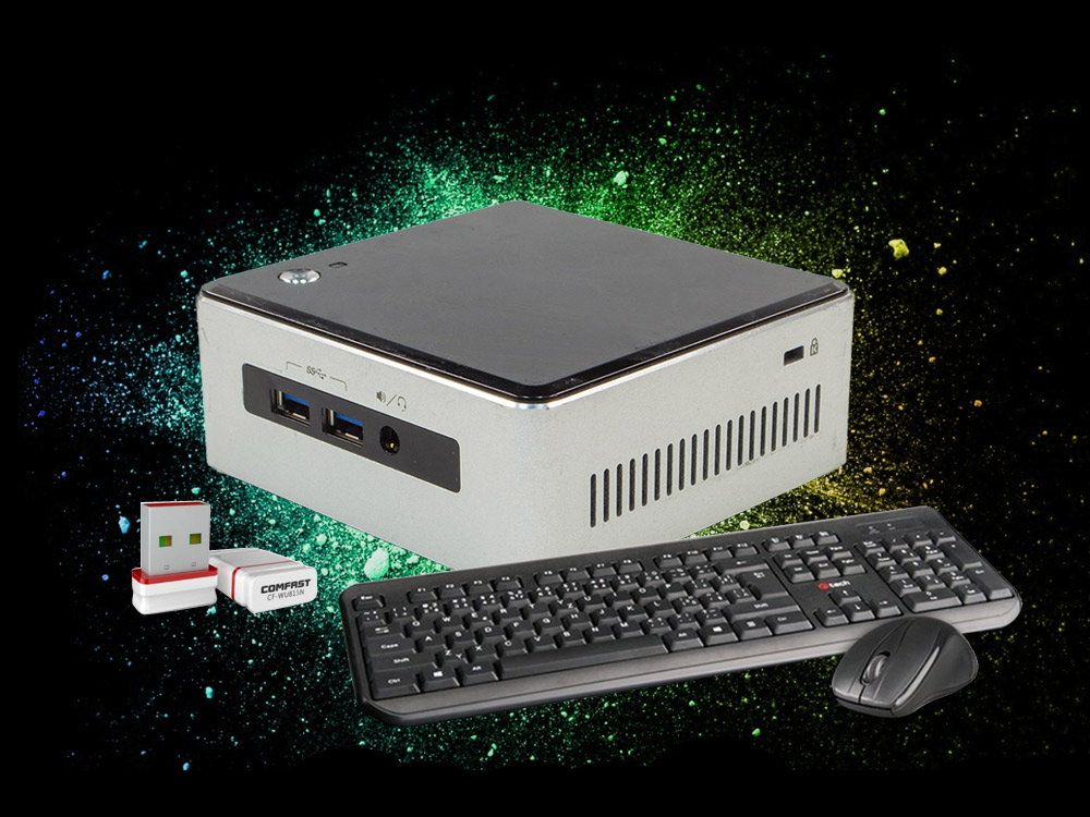Intel NUC5i5MYHE Mini PC pack - UCFF | i5-5300U | 8GB DDR3 | 120GB SSD | NO ODD | HD 5500 | miniDP | mini HDMI | Bronze