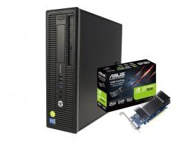 HP EliteDesk 800 G1 SFF i7-4770 + ASUS GT 1030 2GB Low Profile repasovaný počítač - 1605243