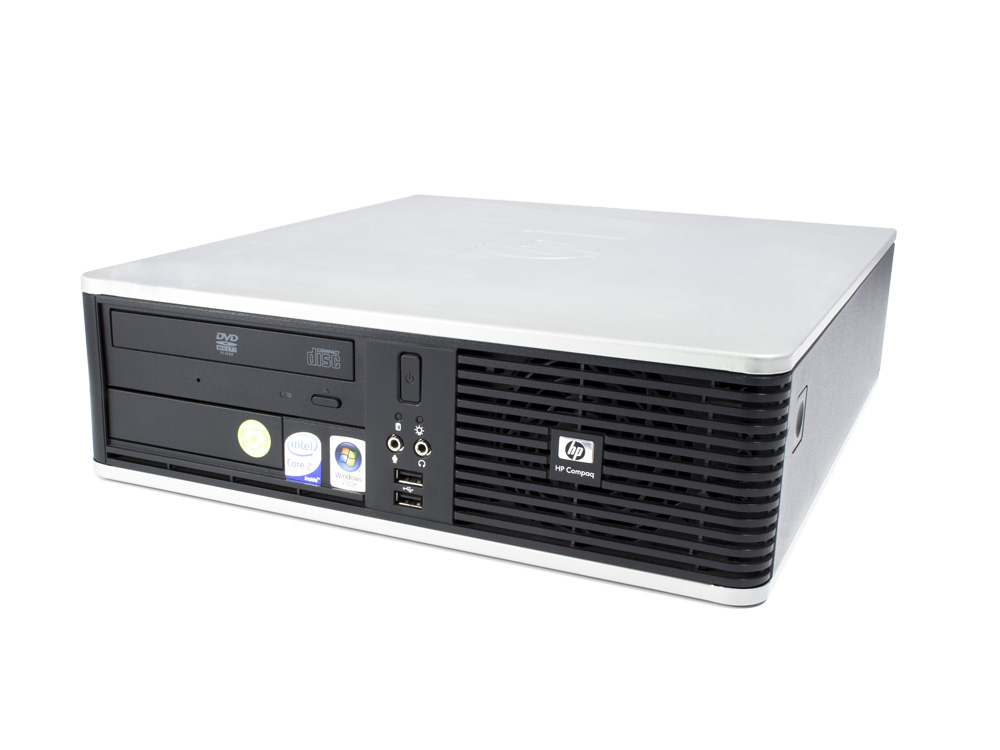 "HP Compaq dc7800 SFF - SFF   C2D E8400   4GB DDR2   160GB HDD 3,5""   DVD-ROM   Intel HD   Silver"