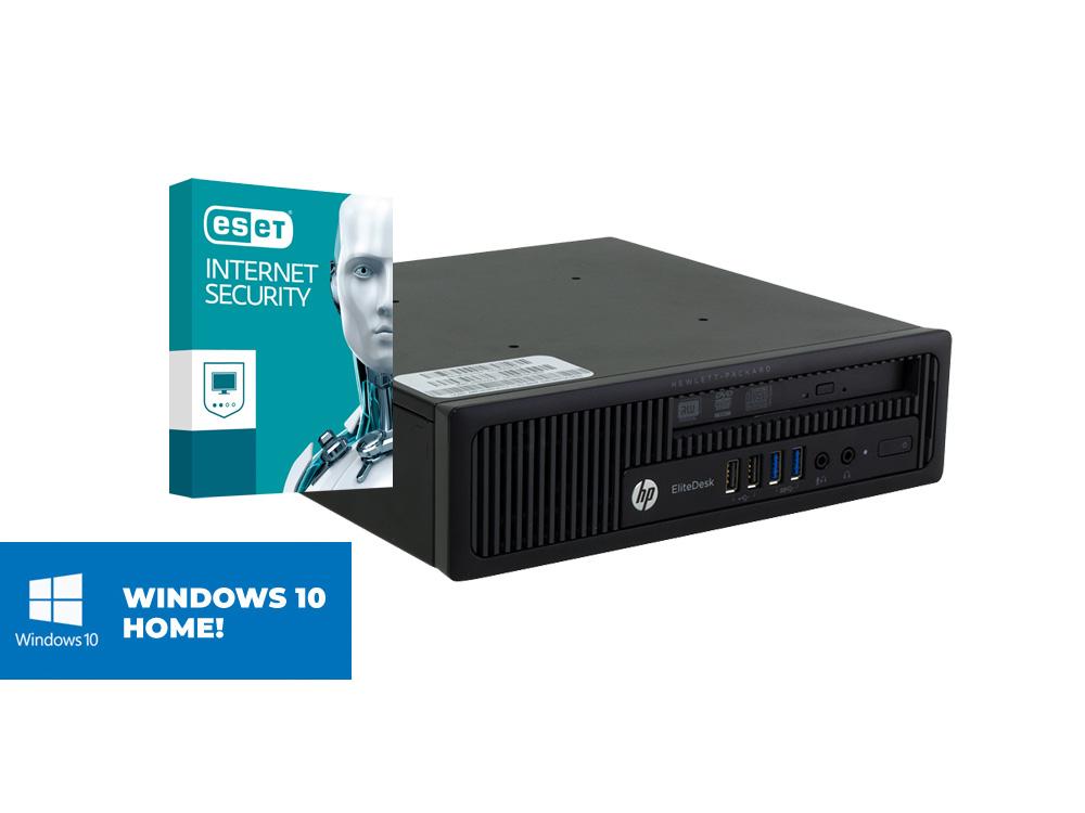 HP EliteDesk 800 G1 USDT + MAR Windows 10 HOME + ESET NOD32 Antivirus - USDT | i5-4570 | 8GB DDR3 | 240GB SSD | NO ODD | HD 4600 | MAR Win 10 Home | Silver