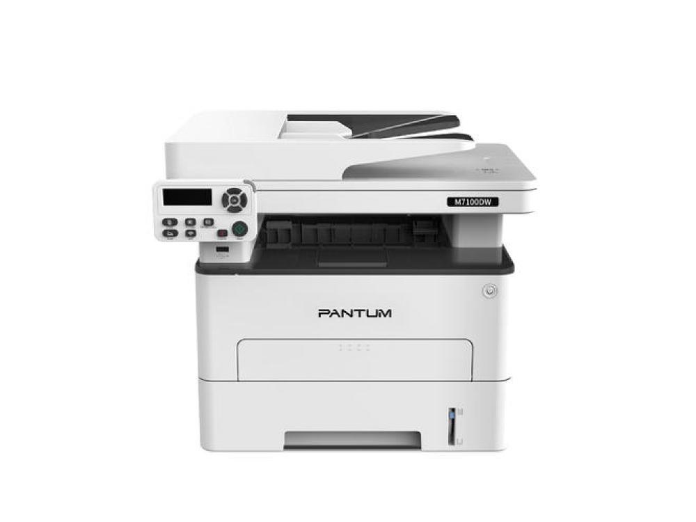 Tlačiareň PANTUM M7100DW 33 A4/min, Black, Duplex, LAN / WiFi / USB - 256 GB | Duplex | Laser | Black | USB 2.0 | LAN | 60 000 pages | NEW | 12 000 pages
