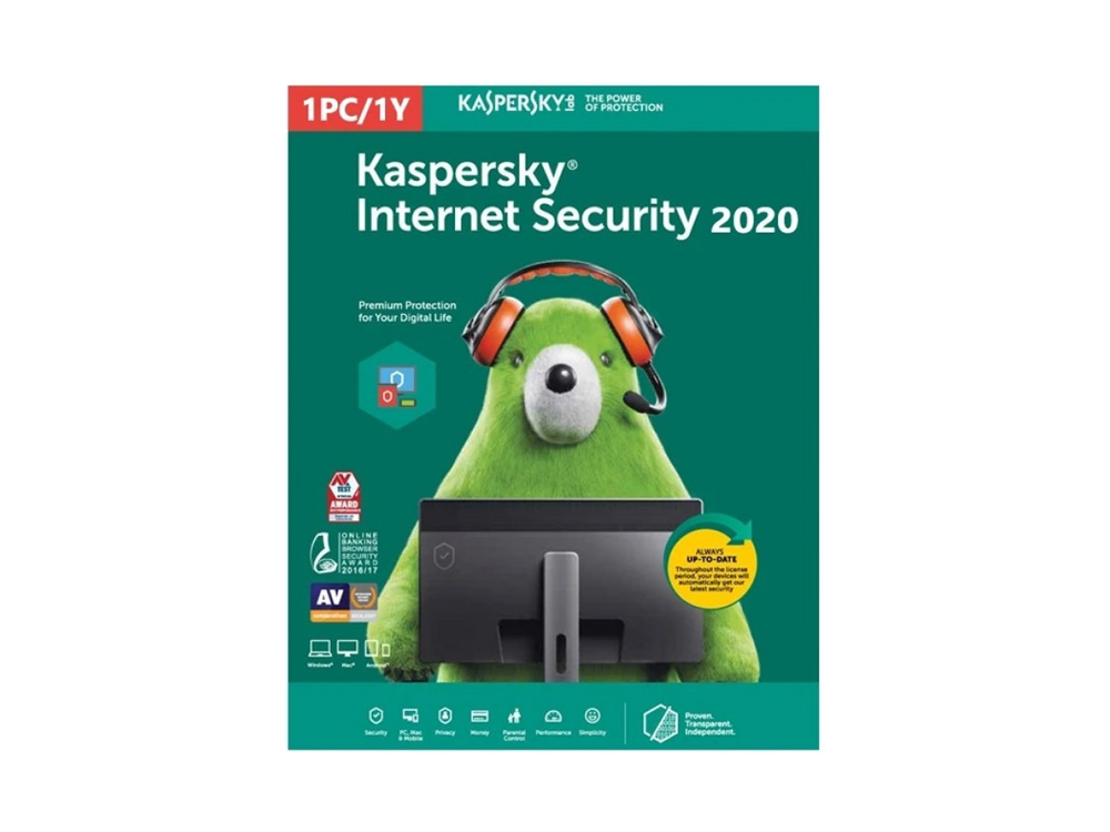 Softvér Kaspersky Internet Security 2020 1 Device 1 Year - NEW | 1 Year
