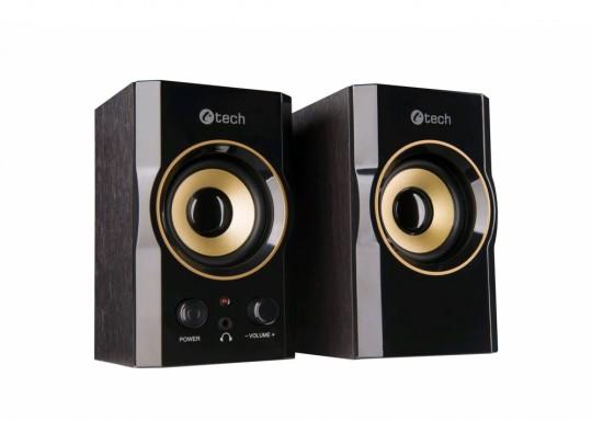 C-Tech SPK-11, 2.0, Wood, Black-Gold, Jack/USB Reproduktor - 1840024 #2