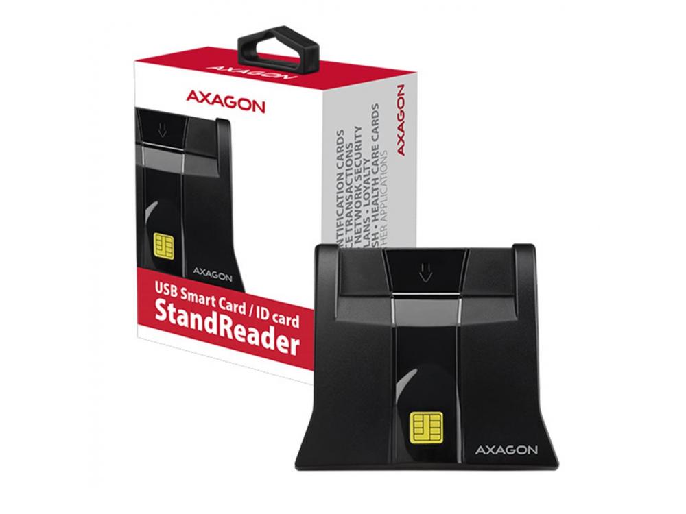 USB card reader AXAGON CRE-SM4, USB external, StandReader, Smart card - NEW