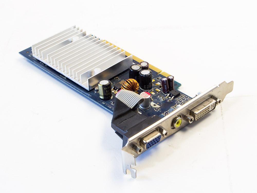Grafická karta Nvidia GeForce 7100 GS - DVI | VGA (d-sub) | DDR2 | PCI Express x16 | Gold