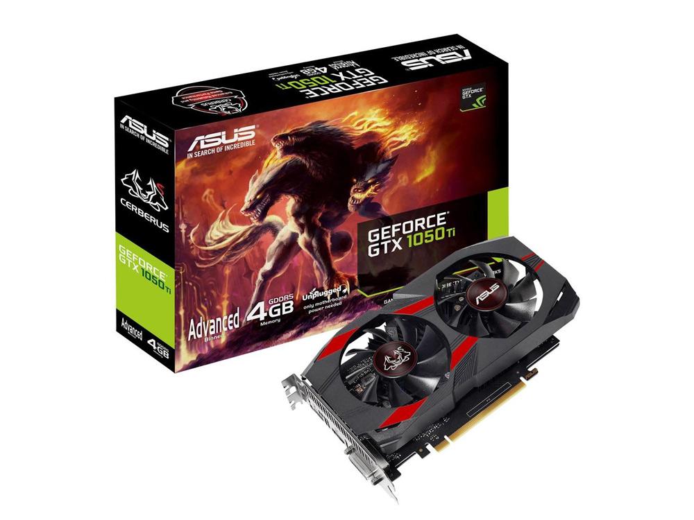 Grafická karta ASUS Cerberus GeForce® GTX 1050 Ti OC Edition 4GB GDDR5 - DVI   DP   HDMI   4 GB   GDDR5   PCI Express x16   128-bit   NEW