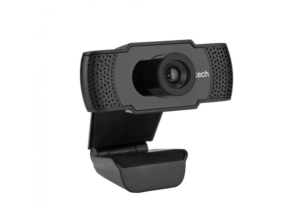 Webcam C-Tech CAM-07HD, 720P, Mikrofon, Black - NEW   720p / 30FPS