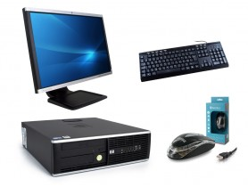 "HP Compaq 8000 Elite SFF + 22"" Monitor HP LA2205wg + Klávesnica & Myš"