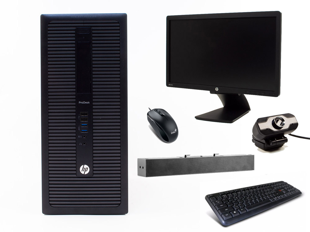 "HP ProDesk 600 G1 TOWER + 21,5"" HP Z22i + Webcamera + HP S100 Speaker Bar 2,5W + Klavesnica a Myš - TOWER 