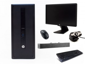 "HP ProDesk 600 G1 TOWER + 21,5"" HP Z22i Monitor + Webcamera + HP S100 Speak..."