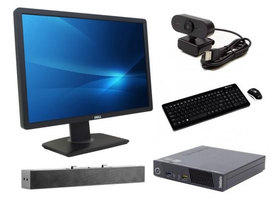 "Lenovo Thinkcentre M73 Tiny + 22"" Monitor Dell Professional P2213 + Speaker + FullHD Webkamera + Klávesnica a Myš repasovaný mini počítač, Celeron G1820T, Intel HD, 4GB DDR3 RAM, 500GB HDD - 2070214 #1"
