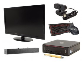 "Fujitsu Esprimo Q556 USFF + 24"" Monitor TERRA 2450W + Speaker + FullHD Webk..."