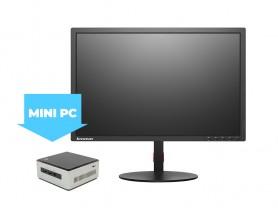 "Intel NUC5i5MYHE Mini PC + 22"" Monitor Lenovo T2254p + FullHD Webkamera + W..."