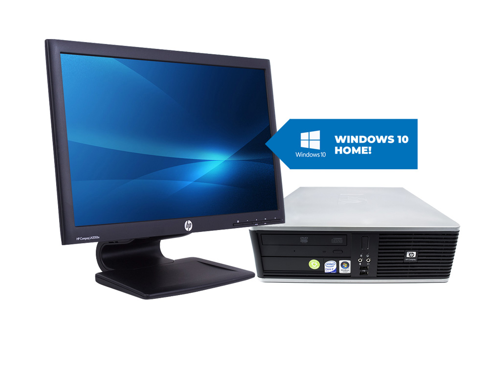 "HP Compaq dc7900 SFF + 20,1"" HP LA2006x + MAR Windows 10 HOME - SFF 