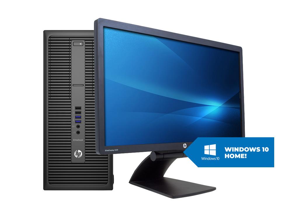 "HP EliteDesk 800 G2 TOWER + 23"" HP E231 + MAR Windows 10 HOME - TOWER   i5-6500   8GB DDR4   240GB SSD   500GB HDD 3,5""   NO ODD   HD 530   MAR Win 10 Home   Win 10 Pro   Silver"