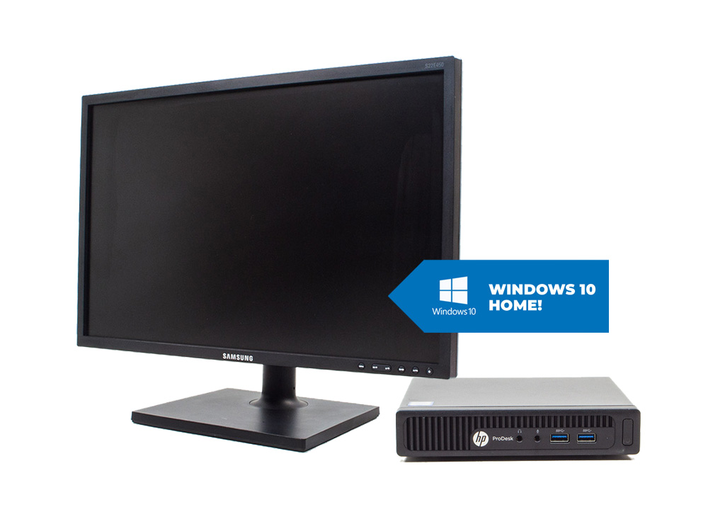 "HP ProDesk 400 G2 DM + 22"" Samsung S22E450 + MAR Windows 10 HOME - Tiny 