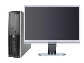 "HP Compaq 8100 Elite SFF + 22"" Philips 220B Monitor (Quality Silver)"