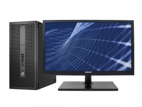 """HP EliteDesk 800 G2 TOWER + 24"""" Samsung S24A450 (Quality Silver)"""