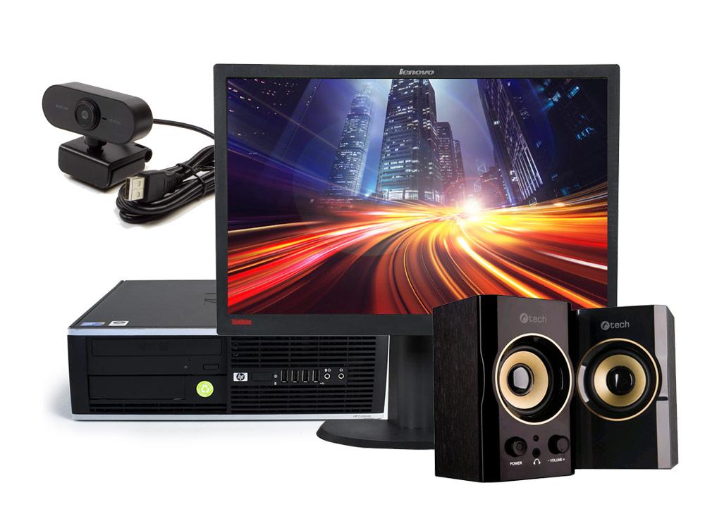 "HP Compaq 8300 Elite SFF + 22"" ThinkVision L2240P (Quality Bronze) + Webcam + Speaker - SFF | i5-3470 | 8GB DDR3 | 128GB SSD | 500GB HDD 3,5"" | DVD-ROM | HD 2500 | Win 10 Pro | Gold"